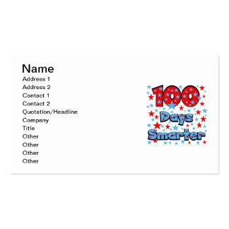 100 Days Smarter Business Card Templates