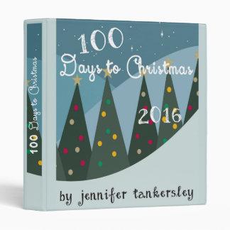 100 Days to Christmas 2016 3 Ring Binder