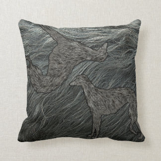 100% deerhound! throw pillow