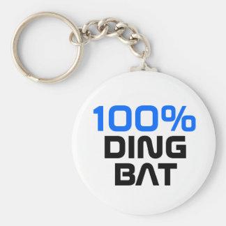 100% dingbat keychain