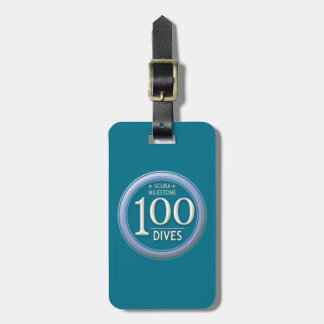 100 Dives Luggage Tag