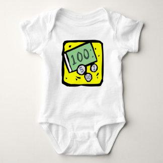 100 Dollar Bill Baby Bodysuit