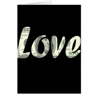 100 dollars love card