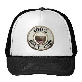 100 DON T CARE HONEY BADGER HAT