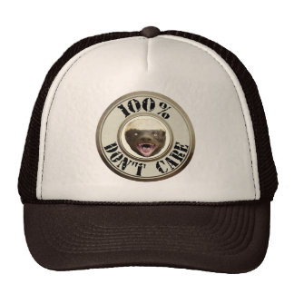 100% DON'T CARE HONEY BADGER HAT