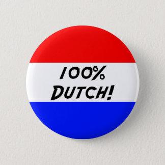 100 % Dutch 2 Inch Round Button
