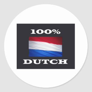 100% dUTCH Classic Round Sticker