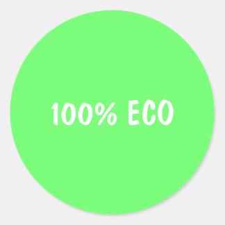 100% ECO CLASSIC ROUND STICKER