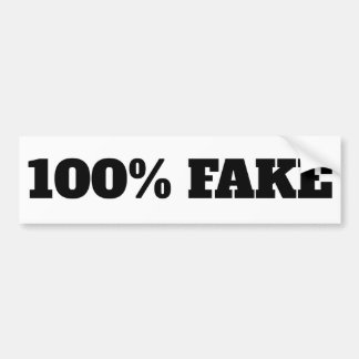 100% Fake - Sticker white