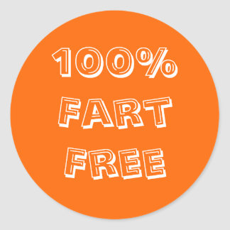 100% Fart Free Sticker For prankers