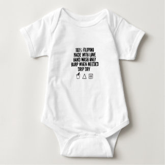 100% Filipino Baby Baby Bodysuit