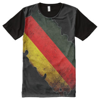 100% Germany Flag Pride All-Over-Print T-Shirt