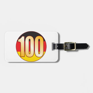 100 GERMANY Gold Luggage Tag