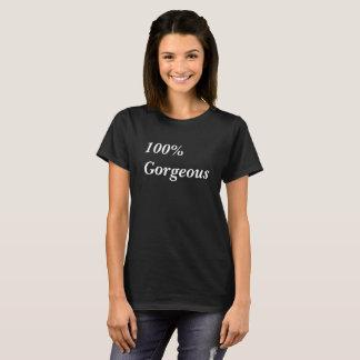 100% Gorgeous Text Print T-shirt