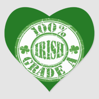 100% Grade A Irish Distressed Stamp Stickers