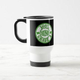 100% GRADE A IRISH Travel Coffee Mug