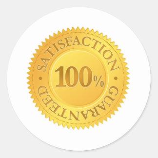 100% Guarantee Round Sticker