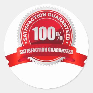 100 Guarantee Round Sticker