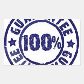 100% Guarantee Rectangle Sticker