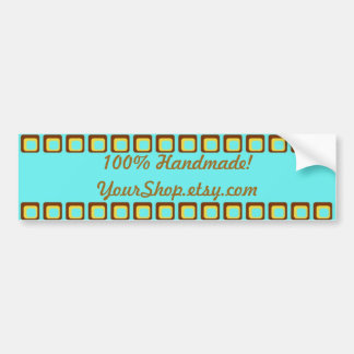 100% Handmade Etsy Shop Promotional Bumper Sticker