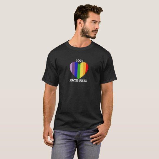 100% Hate-Free T-shirt - dark