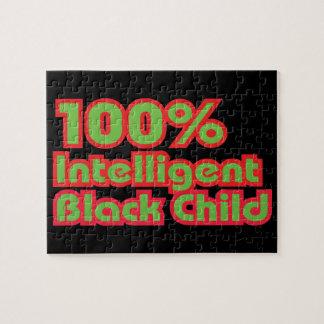 100% Intelligent Black Child Jigsaw Puzzle