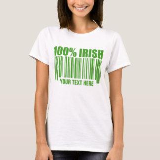 100% Irish Bar Code T-Shirt