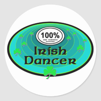 100% Irish Dancer Classic Round Sticker