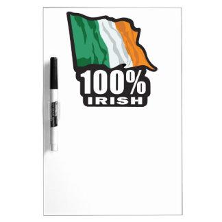 100% Irish Proud to Be Irish Dry-Erase Whiteboards