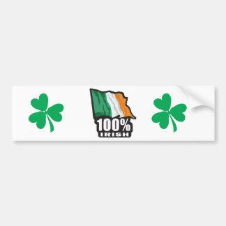 100% Irish/St. Patrick's Day Bumper Sticker