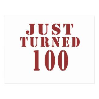 100 Just Turned Birthday Postcard