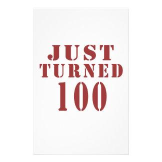 100 Just Turned Birthday Stationery