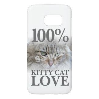 100% Kitty Cat Love Upload Photo Samsung Galaxy S7 Case