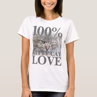 100% Kitty Cat Love Upload Photo T-Shirt
