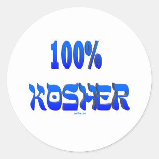 100% kosher Jewish gifts Classic Round Sticker