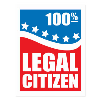 100% Legal Citizen Postcard