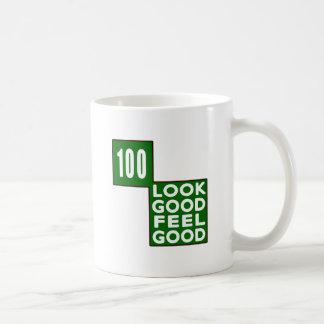 100 Look Good Feel Good Basic White Mug
