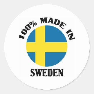 100% Made In Sweden Classic Round Sticker