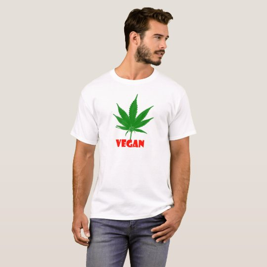 100% Marijuana Vegan T-shirt