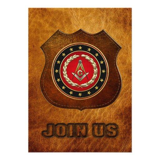 [100] Masonic Square and Compasses [3rd Degree] Custom Invite