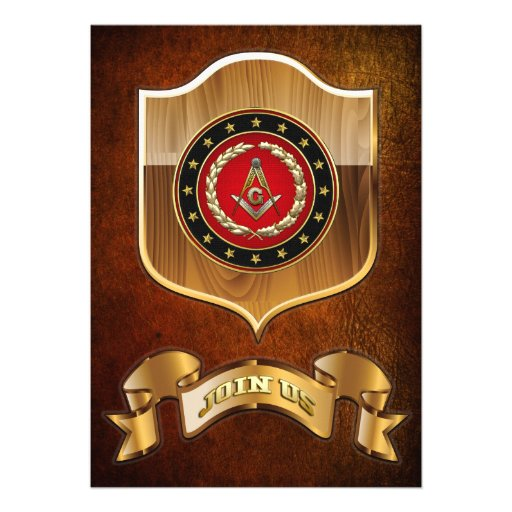 [100] Masonic Square and Compasses [3rd Degree] Personalized Announcements
