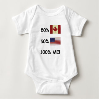 100% ME Canadian/American Baby Bodysuit
