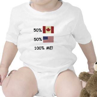 100% ME Canadian/American Rompers