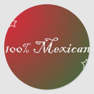 100% Mexican Sticker