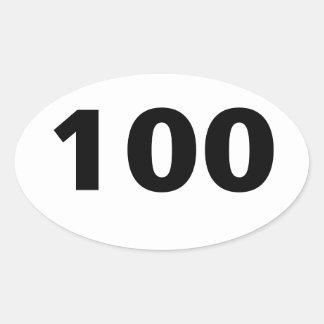 100 Miler Oval Sticker