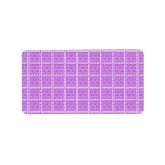 100 minces : Motifs mous artistiques de couleurs Étiquettes D'adresse