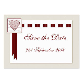 100 Mini Save the Date Cards Love Heart & Roses Business Card