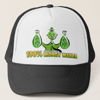 100% money maker trucker hat