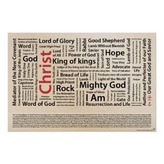 100 names of Jesus American Spelling.ai Poster