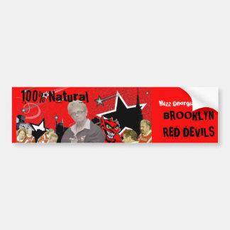 100% Natural,  BROOKLYN RED DEVILS Sticker Car Bumper Sticker